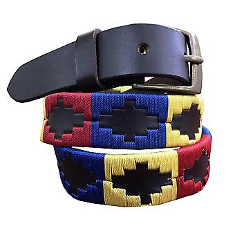 Carlos diaz kids unisex  brown leather  polo belt cdkupb50