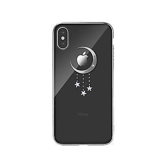 iPhone XS Max - DEVIA Meteor Crystal Case-TransparentSilver