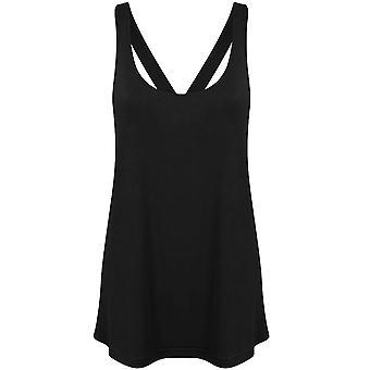 Skinni Fit Womens/Ladies Fashion Workout Sleeveless Vest
