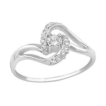 Воронка - 925 стерлингового серебра ювелирное кольца - W19424x