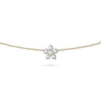 Body Chain Fairy Flower 18K Gold and Diamonds - Yellow Gold, Large