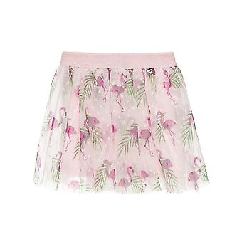 Alouette Girls' Skirts With Tulle And All Over Flamingo Motif