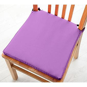 Purple Seat Pad Cushions with Secure Fastening Dining Kitchen Chairs Soft Cotton Twill
