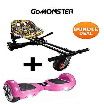 Hip Hop Monster Hoverkart & 6,5&Bluetooth Rosa Hoverboard