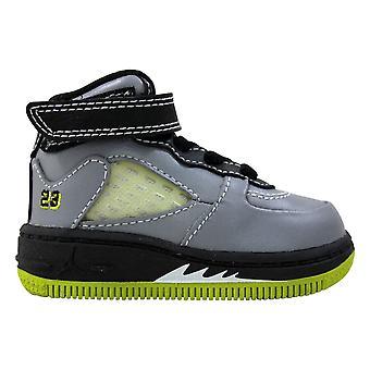 Nike AJF 5 Stealth/White-Black-Bright Citrus 318611-011 Toddler