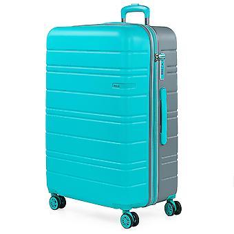 JASLEN San Marino Trolley L, 4 rollen, 49 cm, 128 L, turquoise