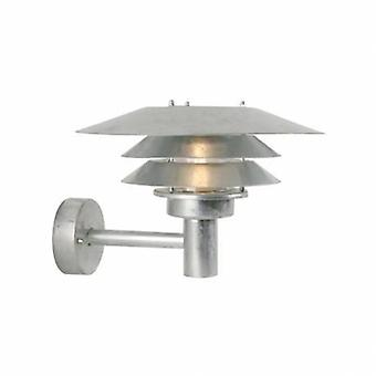 1 Light Outdoor Wall Light Galvanised Ip54