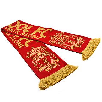 Liverpool FC You'll Never Walk Alone Football Soccer Supporters Scarf Red/Gold