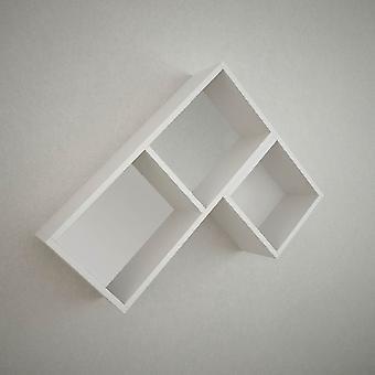 Weißer Delos Mend in Melaminisch 75x20x60 cm