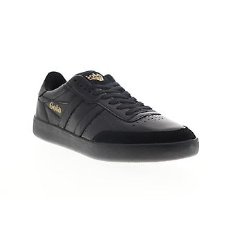 Gola Inca Leather  Mens Black Lace Up Lifestyle Sneakers Shoes
