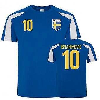 Sweden Sports Style Training Jerseys (Ibrahimovic 10)