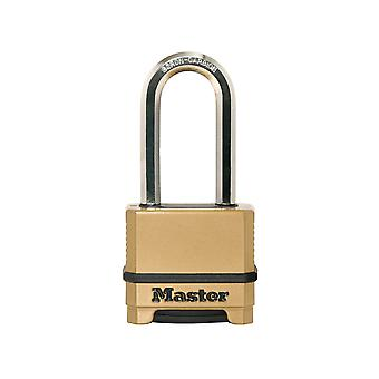Master Lock Excell 4 Digit Combination 50mm Padlock - 51mm Shackle MLKM175LH