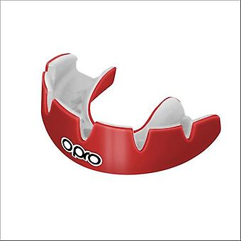 Opro power fit braces mouth guard red/white