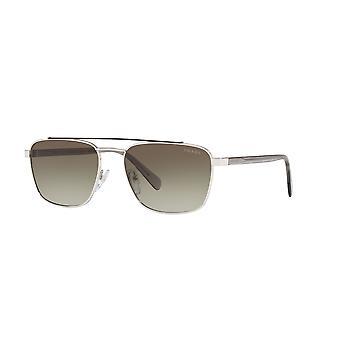 Prada SPR61U Y7B5O2 Brown-Silver/Green Gradient Sunglasses