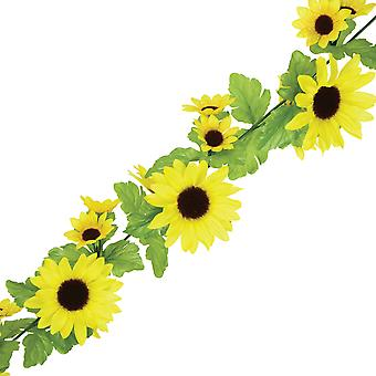 6ft Fabric Artificial Sunflower Garland | Great for Weddings
