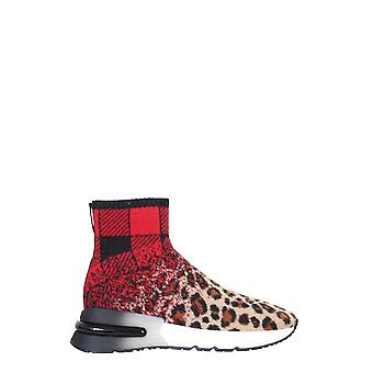 Ash Kimdegrade01 Femmes-apos;s Leopard Polyester Hi Top Sneakers