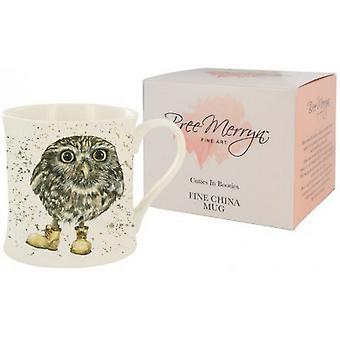 Bree Merryn Oakley The Little Owl Cuties in Booties Mug