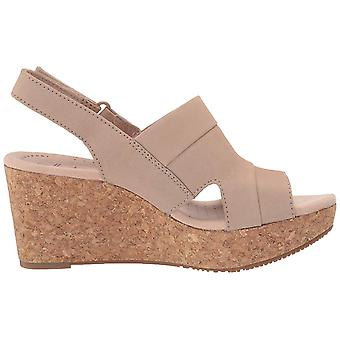 Clarks Donne Annadel Ivory Open Toe Casual Platform Sandals