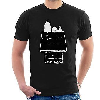 Erdnüsse Snoopy schwarz und weiß Kennel Männer's T-Shirt
