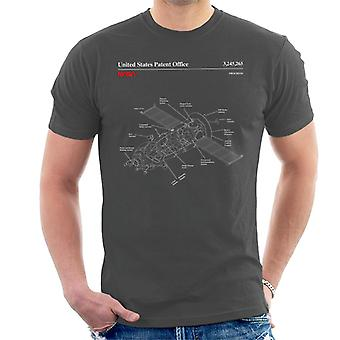 NASA Progress Russian Resupply Vehicle Blueprint Men es T-Shirt