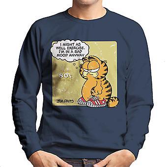 Garfield Classic 80s Exercise Quote Men's Sweatshirt