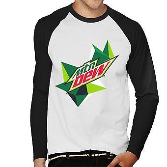 Mountain Dew Original Logo Men's Baseball Long Sleeved T-Shirt