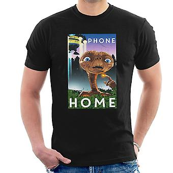 E.T. The Extra-Terrestrial Scene Phone Home Men's T-Shirt