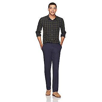 Goodthreads Men's Standard-Fit Long-Sleeve Gingham Plaid Poplin Shirt, Green ...