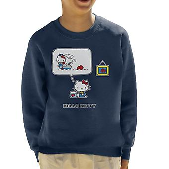 Hello Kitty The Fisherwomen Kid's Sweatshirt