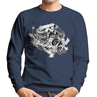Rover V8 Engine Design British Motor Heritage Men's Sweatshirt