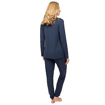 Cyberjammies Nora Rose Scarlett 1438 Kvinder's Navy Blue Knit Pyjama Sæt
