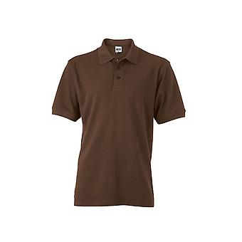 James and Nicholson Mens Workwear Polo Shirt