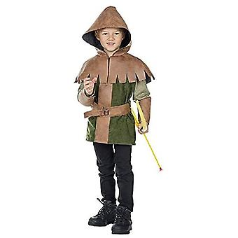 Prince of Thieves Børn 2-Piece HoodEd Top med Belt Warrior Thief Costume Prince