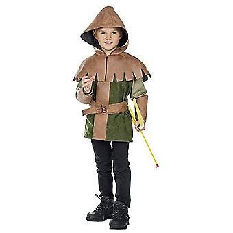 Prince of Thieves Lasten 2-osainen hupullinen top kanssa vyö soturi varas puku prinssi