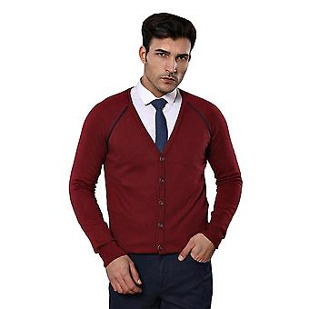 Burgundy cotton knitwear