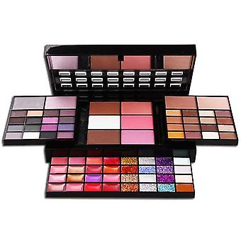 74 Kleur oogschaduw Palet Make-up Set, 36 Eye Shadow + 28 Lip Gloss +6 Blush +4