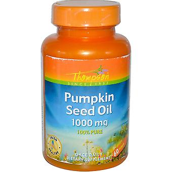 Thompson, Pumpkin Seed Oil, 1000 mg, 60 Softgels