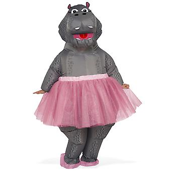 Inflatable Hippo Ballerina Animal Zoo Safari Funny Dress Up Womens Mens Costume