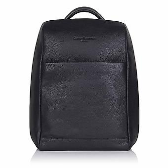Slate Grey Richmond Leather Laptop Backpack