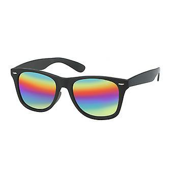 Sunglasses Unisex Wayfarer rainbow/black small 20-186A