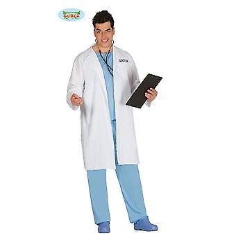 Traje de doctor con una capa de médico para bata blanca doctor doctor traje de hombres Señor carnaval