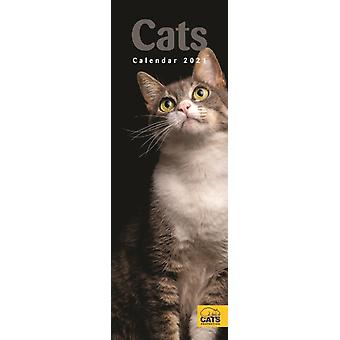 Cats Protection Slim Calendrier 2021