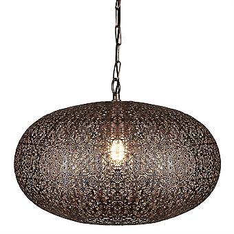 1 Lys marokkansk sfærisk loft antik kobber, E27