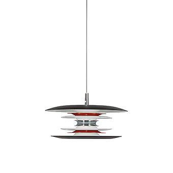 LED 1 Light Ceiling Pendant Matt Black, G9