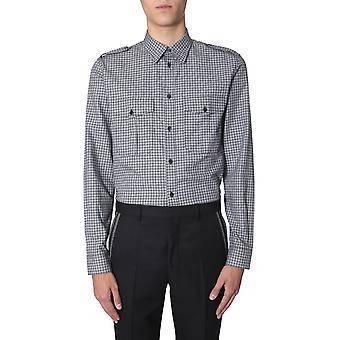 Givenchy Bm60e51y71015 Men's Wit/zwart Katoen Shirt