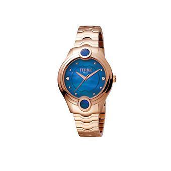 Ferre Milano Women's FM1L083M0061 Blue MOP Dial Rose-Gold IP Steel Wristwatch