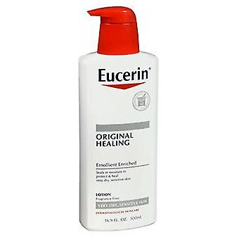 Loção hidratante original de eucerina para pele seca e sensível, 16,9 oz