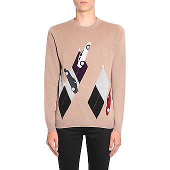 Ballantyne N2p00012k9494443 Men's Beige Cashmere Sweater