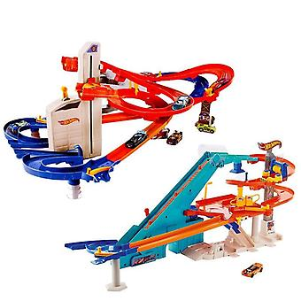 Hot Wheels City Auto Lift Expressway, Nonstop Multi-car Action Playing