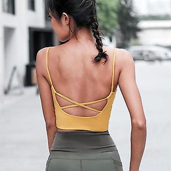 Mermaid Curve Crop Top- Sports Women Fitness Padded Camisole